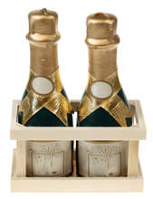 Champagne Candle Set of 2