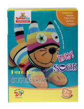 DIY Sock Puppet Set - Super Cat
