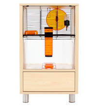 Birch Style Qute Gerbil and Hamster Cage with Storage