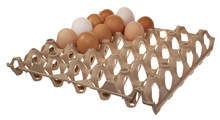 Brown Plastic Egg Tray
