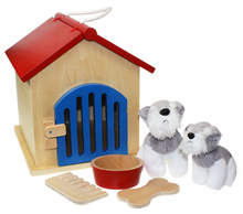 Wooden Dog Kennel Play Set