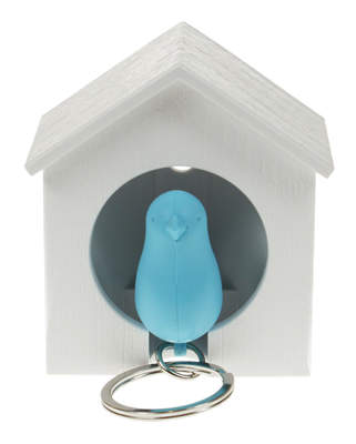 Sparrow and House Keyring Set Blue