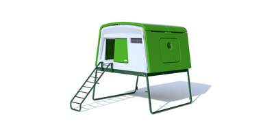 Eglu Cube Mk2 with Accessories - Leaf Green