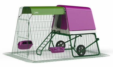 Eglu Go UP Chicken Coop with 2m Run and Wheels Package - Purple