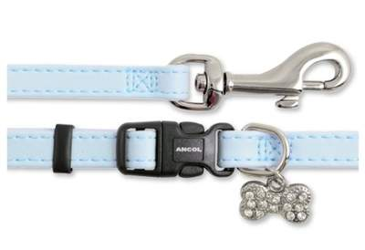 Small Bite Collar & Lead Set Deluxe Jewel Blue