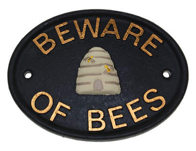 Beware of Bees Large Sign