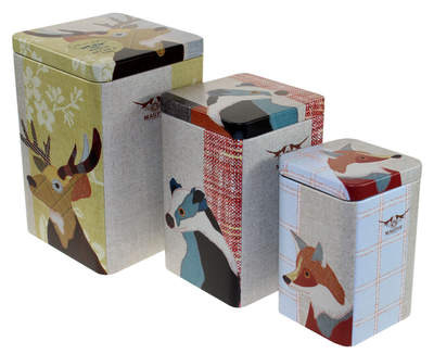 Set of Three Beasties Nesting Storage Tins