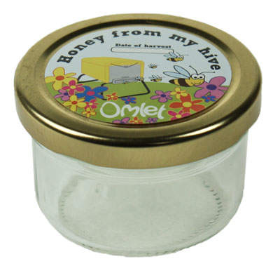 Honey Jars & Labels - Pack of 6