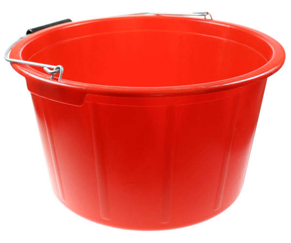 Feed Bucket 20 Litre Red  Chicken Feed and Treats For Chickens