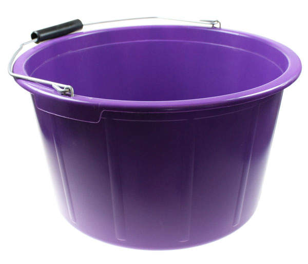 Feed Bucket 20 Litre Purple  Chicken Feed and Treats For Chickens