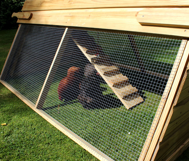 The Boughton chicken coop on grass.
