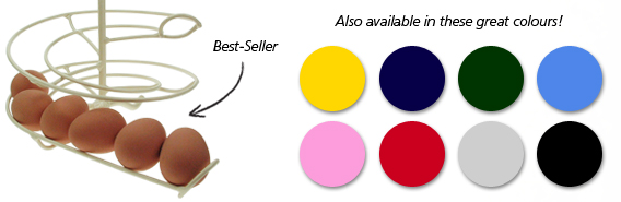 The Egg skelter colour selection.