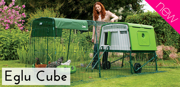 New Eglu Cube chicken coop for up to 10 chickens