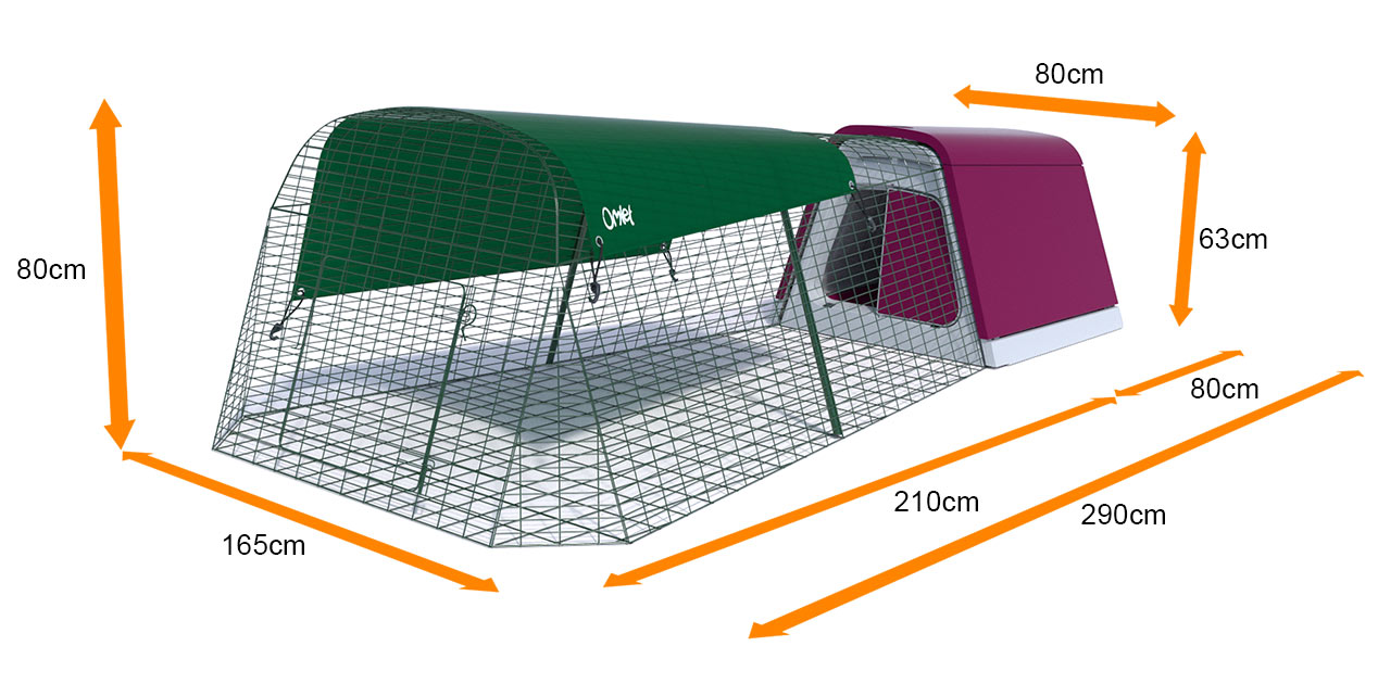 The dimensions of the Eglu Go Rabbit Hutch and Run