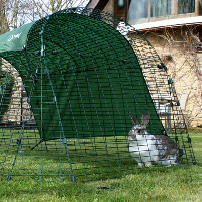 The all-weather shade that comes free with the Eglu Go Rabbit Hutch