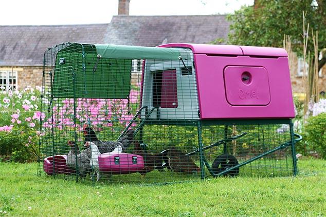 Das Eglu Cube Hühnerhaus im Garten