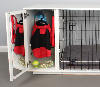 The Fido Studio Wardrobe keeps your dogs things tidy