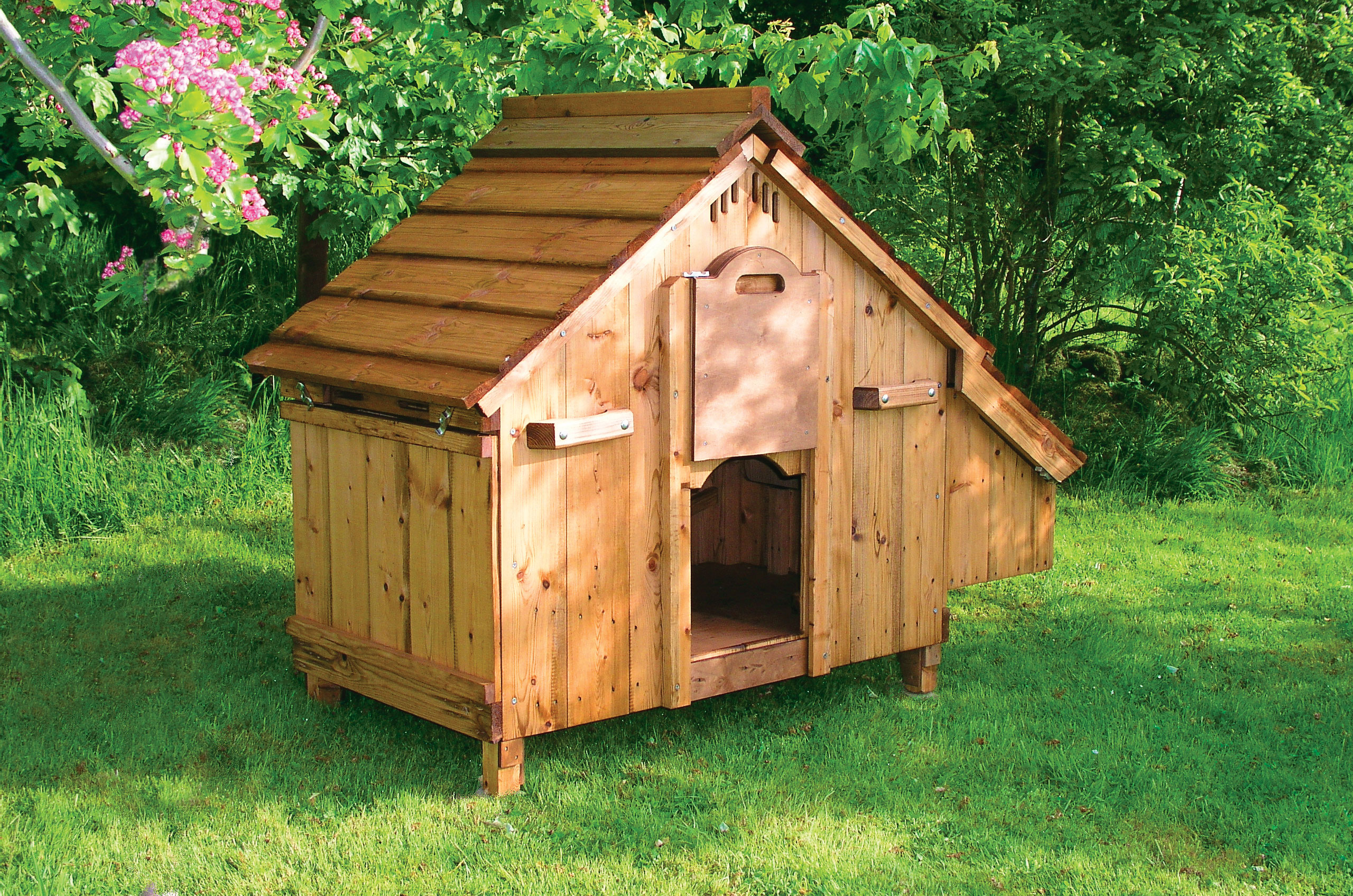 Chicken House Classy Lenham Chicken Coop  Wooden Chicken Ark For 12 Birds Review