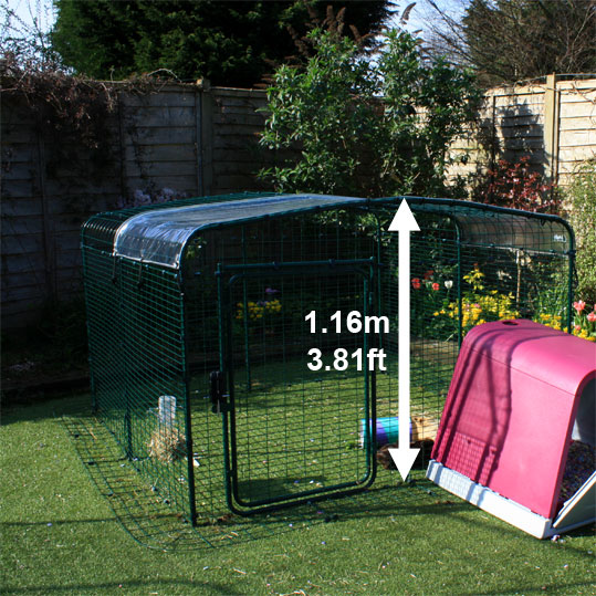The Lo-Rise Outdoor Guinea Pig RUn with dimensions