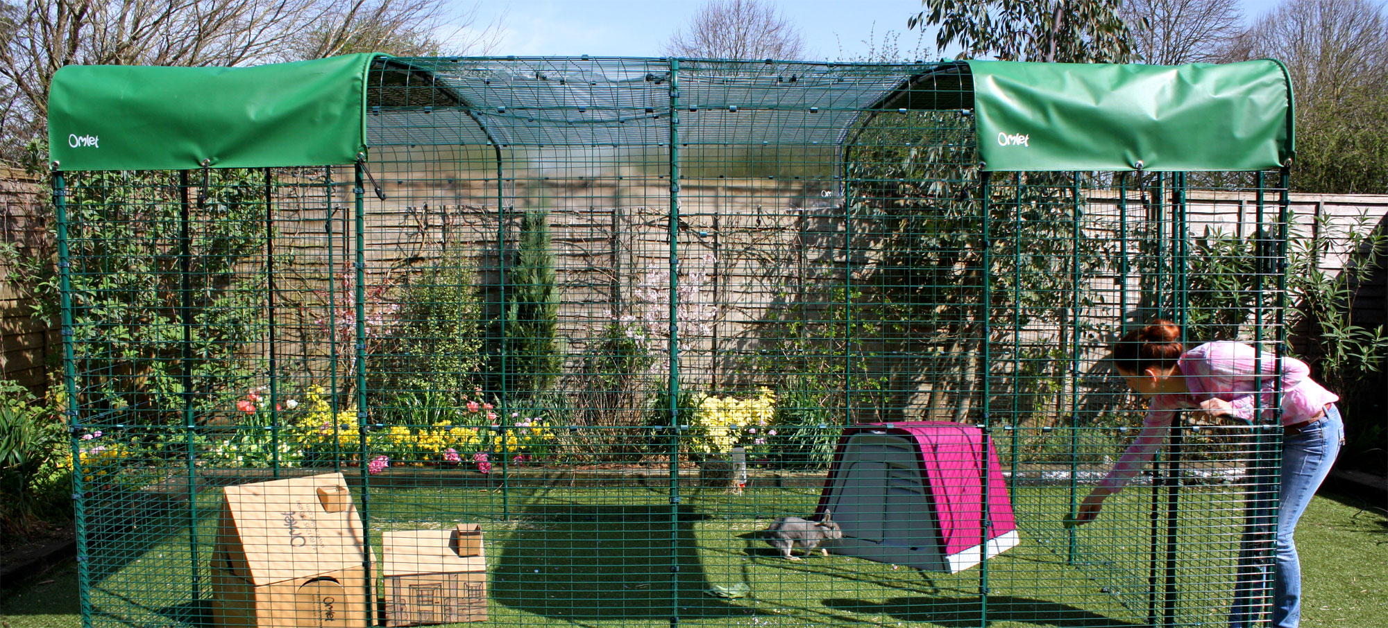 An extended 3x4x2 Outdoor Rabbit Run will give your pet rabbits lots of space to hop around in.