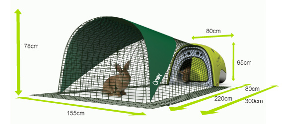 Eglu Rabbit House Dimensions