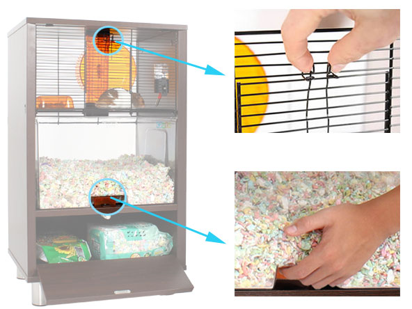 Qute hamster and gerbil cage stylish hamster house