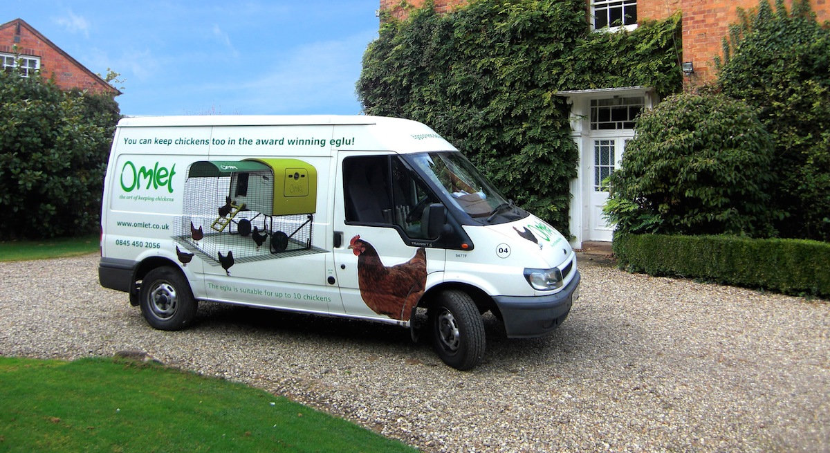 The Omlet Delivery Van