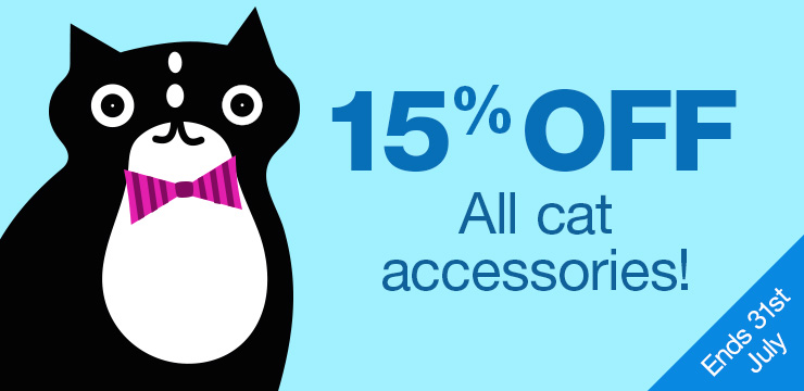 15% off cat accessories