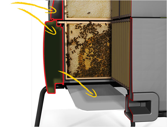 Twin Wall Insulation keeps your bees cool in the summer, and warm in the winter!
