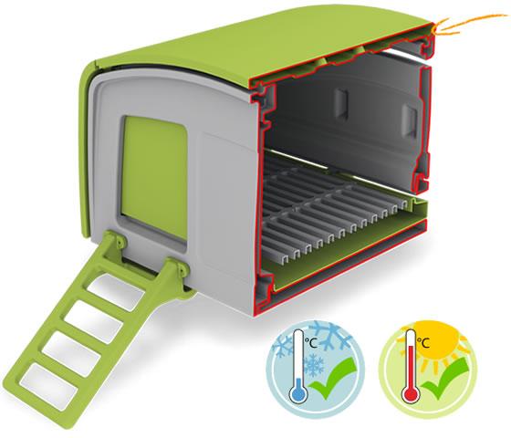 Den Eglu Cube r varmt p vintern och svalt p sommaren med den innovativa dubbla vggkonstruktion