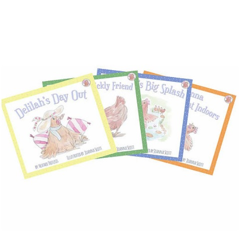 Four Little Hens - Illustrated Children's Books